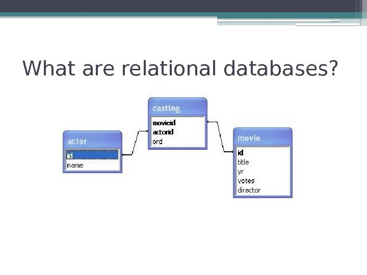 What are relational databases?