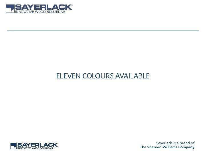 ELEVEN COLOURS AVAILABLE