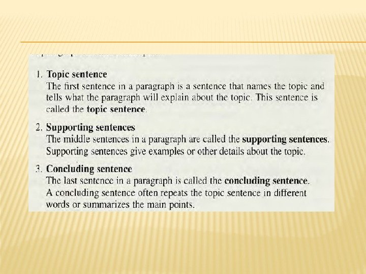 STRUCTURING PARAGRAPHS AND SENTENCES THE AIMS ARE