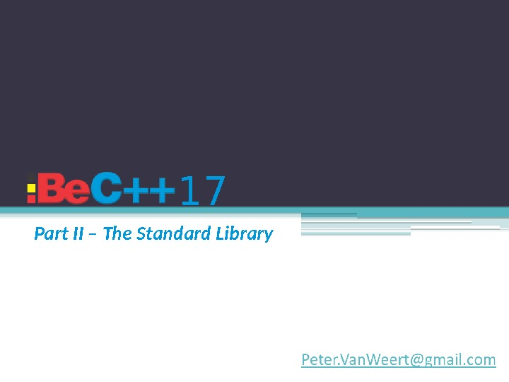 17 Part II – The Standard Library