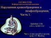 ГОУ ВПО УГМА  Кафедра патологической анатомии Нарушения