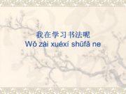 我在学习书法呢 Wǒ zài xuéxí shūfǎ ne 1. 书法(名)