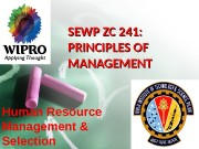 SEWP ZC 241:  PRINCIPLES OF MANAGEMENT Human