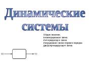 Общие понятия. Безинерционное звено Интегрирующее звено Инерционное звено