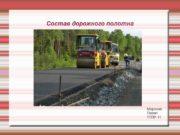 Состав дорожного полотна Морозов Павел TTПP-11 Общее положение