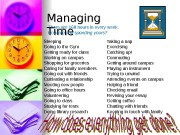 Managing Time  There are 168 hours in