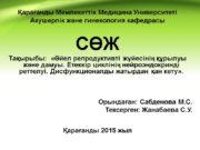 Қарағанды Мемлекеттік Медицина Университеті Акушерлік және гинекология кафедрасы