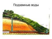 Подземные воды ГЕОЛОГИЧЕСКАЯ ДЕЯТЕЛЬНОСТЬ ПОДЗЕМНЫХ ВОД