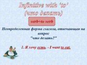 Infinitive with to что делать verb to verb Неопределенная