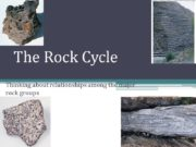 The Rock Cycle Thinking about relationships among the