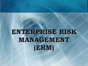ENTERPRISE RISK MANAGEMENT (ERM) 1 (c) Mikhail Slobodian