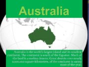 Australia is the world s largest island its smallest