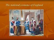 The national costume of England English folk clothing