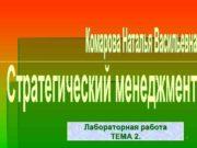Лабораторная работа ТЕМА 2 1 Конкурентный анализ