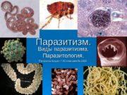 Паразитизм. Виды паразитизма.  Паразитология. Панфилов Богдан 7