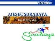 AIESEC SURABAYA in INDONESIA We invites you