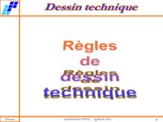 Règles de dessin technique Principe de projection Projection
