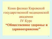 Коми филиал Кировской государственной медицинской академии IV Курс