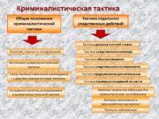 Криминалистическая тактика Тактика отдельных следственных действий Общие положения