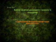 Тема №5 Бойові графічні документи і правила їх