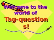 Welcome to the world of   Tag-question