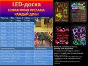 LED-доска НОВАЯ ЯРКАЯ РЕКЛАМА КАЖДЫЙ ДЕНЬ! Маркерные светодиодные