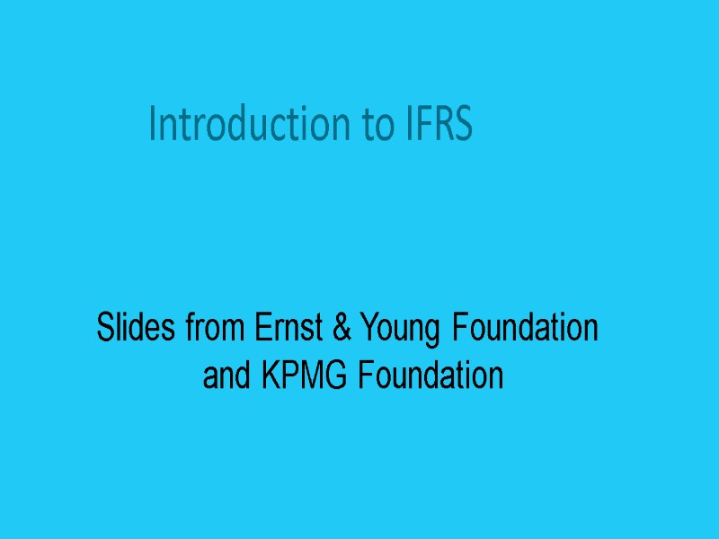 Ifrs in india ppt