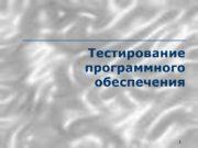 1 Тестирование программного обеспечения Павловская Т.А. (СПбГУ ИТМО)