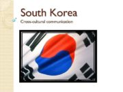 South Korea Cross-cultural communication Thereby тем