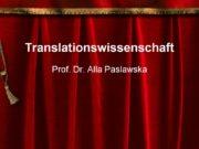 Translationswissenschaft Prof. Dr. Alla Paslawska Georg Christoph Lichtenberg