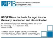 UTC(PTB) as the basis for legal time in