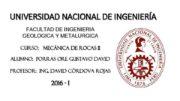 UNIVERSIDAD NACIONAL DE INGENIERÍA FACULTAD DE INGENIERIA GEOLOGICA