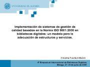 Implementación de sistemas de gestión de calidad basados