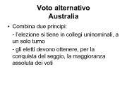 Voto alternativo Australia Combina due principi —