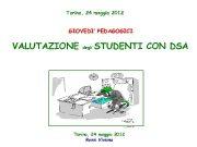 Torino 24 maggio 2012 GIOVEDI PEDAGOGICI VALUTAZIONE degli