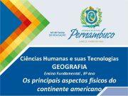 Ciências Humanas e suas Tecnologias GEOGRAFIA Ensino Fundamental