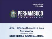 Área Ciências Humanas e suas Tecnologias Ensino