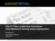 EDLP Price Leadership Assertions How Walmart Is Driving