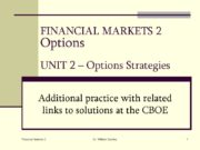 Financial Markets 2 Dr. William Sackley 1 FINANCIAL