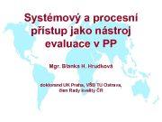 Systémový a procesní přístup jako nástroj evaluace v
