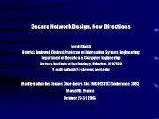 Secure Network Design New Directions Sumit Ghosh Hattrick