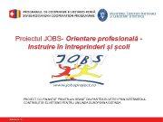 Proiectul JOBS- Orientare profesională Instruire în întreprinderi și