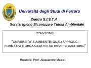 Università degli Studi di Ferrara Centro S I