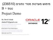 236510 מימוש מערכות מסדי נתונים B tree