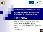 Konsultacinio centro migrantams atvirų durų diena Mokymosi visą