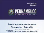 Área Ciências Humanas e suas Tecnologias — Geografia
