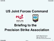 USJFCOM Unclassified US Joint Forces Command Briefing to