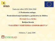 Nadzorni odbor EPD 2004 -2006 3 Prednostna naloga