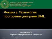 Лекция 5. Технология построения диаграмм UML Мельников П.П.