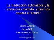 La traducción automática y la traducción asistida Qué
